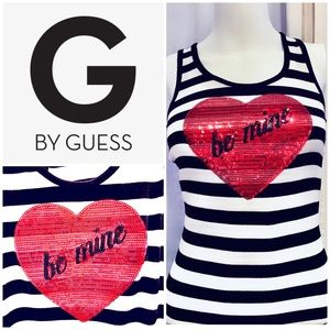 G By Guess Be Mine Sequined Tank